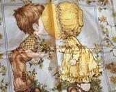 Sarah Kay Scarf, Vintage girl story, Romantic sweet image, English garden, Sweet valentine, boy girl kiss