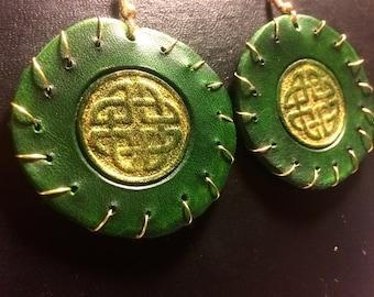 Celtic Leather Earrings
