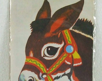 Vintage Pin the Tail on the Donkey Children's Party Game