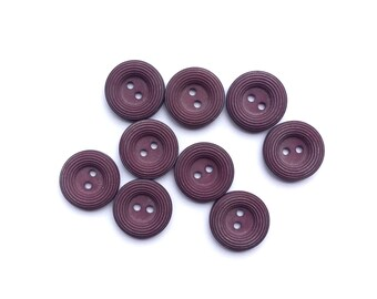 9 Purple Vintage Buttons, 18mm