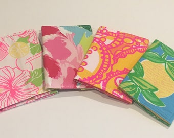 Passport Cover made with Lilly Pulitzer Fabric 4 designs to chose from.