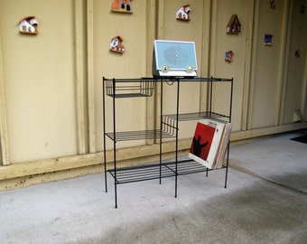 Vintage Metal Record Stand - Plant Stand