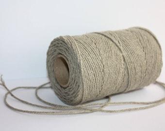2 mm Elegant Linen Yarn - Natural Color = 1 Spool = 110 Yards = 100 Meters