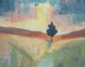 "Original Acrylic painting - abstract landscape painting - abstract painting - expressionist - contemporary Art - canvas 18""x24"""
