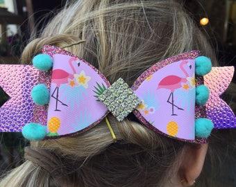 Sparkle handmade hair bows dance bobble clip rainbows unicorns girls baby band special gift present