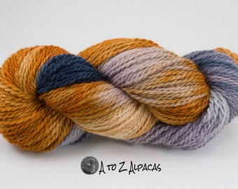Hand Dyed Chunky Weight Alpaca Yarn - Made in Canada- #03