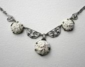 Vintage German Art Deco Glass Necklace
