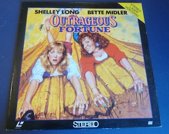Outrageous Fortune Laser VideoDisc 1986