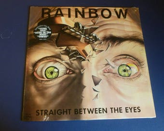Rainbow Straight Between The Eyes Vinyl Record LP SRM-1-4041 Mercury Records 1982