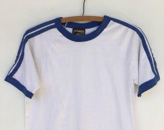 Vintage 70s/ 80s Sportswear Sears Basic Ringer T Shirt S M