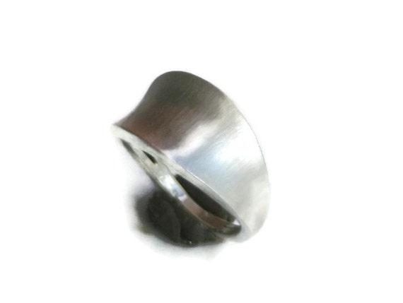 Minimalist Silver Ring - Matte