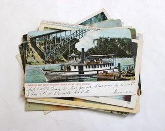 15 Vintage Niagara Falls Postcards Used