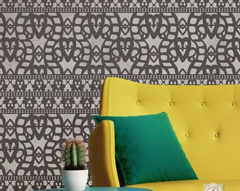 Cayman Lace Wall Stencil - DIY pattern for walls and interior wallpaper style