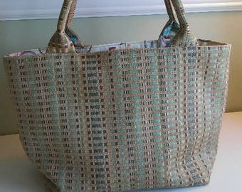 Bucket Bag; Tweed Bucket Bag; Bicycle Print