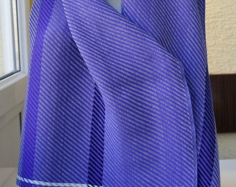 Turkishtowel-2017 Collection-Hand woven,cotton warp,cotton weft Shawl-Very soft,lovely-Purple weft
