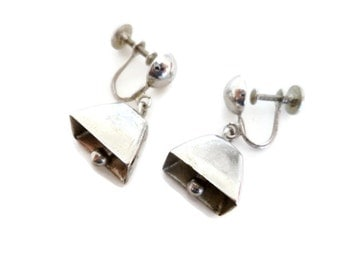 Vintage Coro Cow Bell Earrings