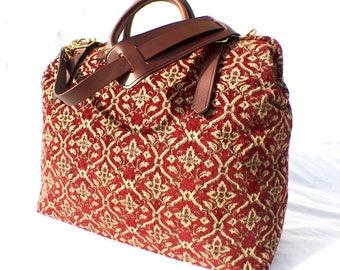 Carpet Bag, Weekender / Overnight / Carry on / 'Carpet' Travel Bag