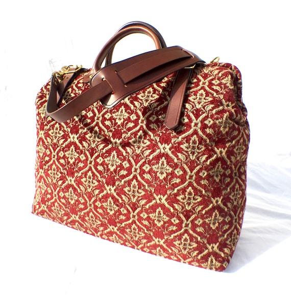 Carpet Bag Weekender Overnight Carry On