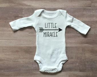 Onesie - Little Miracle - Rainbow Baby - Baby Boy - Baby Girl - Preemie - Photo Prop - Baby Shower - March of Dimes - Newborn Photo