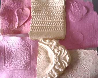 Rose Collage Paper, Eco Friendly Paper Craft, Card Making Supplies, Mixed Media Assemblage, Embossed Paper Sheets, Yellow Paper Art Paper