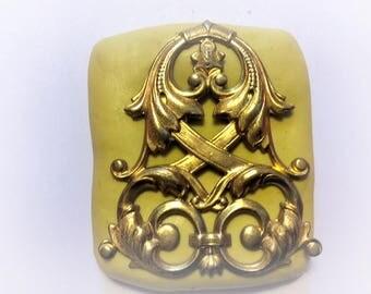 Large Fancy Celtic Medallion mold silicone food safe rubber mold