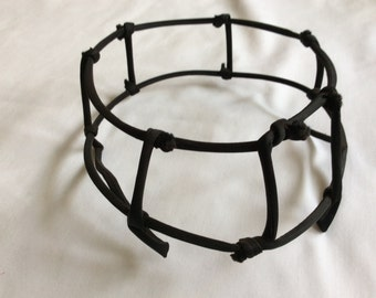 Black Fabric Covered Wire Frame Hat Frame 1950s