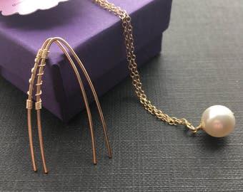 Gold Twisted Earrings, Open Gold Hoop, Gold Arc Earrings, Modern Jewelry, Minimal Earrings, Edgy Jewelry, 14K Gold Filled Hoop
