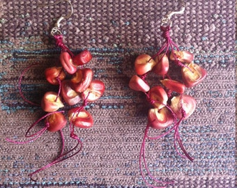 Purple Corn Earrings