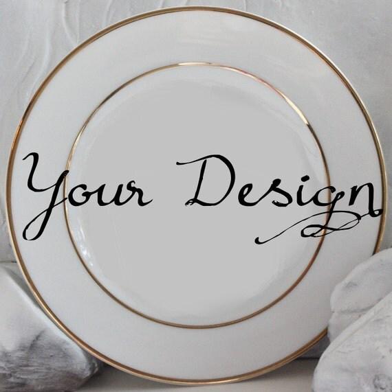 Customizable Gold Plates Custom Dinnerware Customizable Dishes Personalized Plates Personalized Dishes  sc 1 st  WTF Porcelain & Customizable Gold Plates Custom Dinnerware Customizable