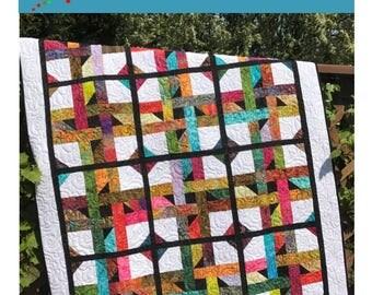Jelly Roll  Quilt Pattern -  Star Jam Quilt Pattern - Sizes Throw- Twin - Queen / King - Confident Beginner - HARD COPY Version