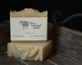 Facial Soap, Handcrafted Soap, White Tea, Artisan Soap, Cold Process, Handmade Soap, Natural Soap, Body Bar, Shea Butter Soap, Pure Soap
