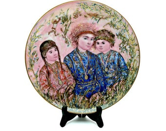 """Special Olympics Collectible Plate Limited Edition Signed Edna Hibel - """"Triumph! Everyone a Winner"""""""