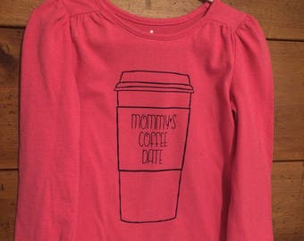 Mommy's Coffee Date Kids T Shirt