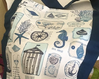 Tote bag /beach bag/Books/Grocerys/Shopping/Gift/Handsewn