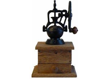 Mechanical Coffee Grinder - Mechanical Coffee Mill - Fresh Ground Coffee - Handmade wooden base - Burr Grinder - Foodie -CG107