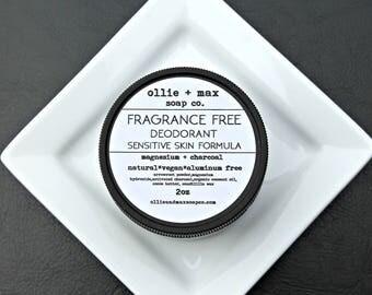 Sensitive Skin Fragrance Free Deodorant, Vegan Deodorant, Aluminum Free Deodorant,Natural Deodorant