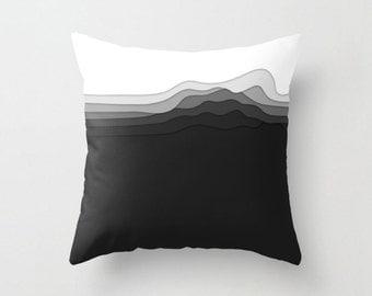 Layered Art Throw Pillow Cover