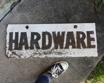 The Best Chippy Painted Hardware Sign