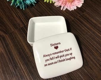 SALE Sisters Gift | Keepsake Box | Gifts for Sister | Sister Birthday Gift | Sister Present handmade in my Charleston, SC Studio