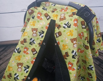 Carseat Canopy Wilderness Animal Last One READY TO SHIP