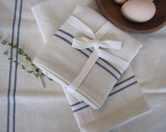 Farmhouse  Kitchen Towel, Farmhouse, Vintage Kitchen, Tea  Towel, Farmhouse Towel, Blue Stripe Kitchen Towel
