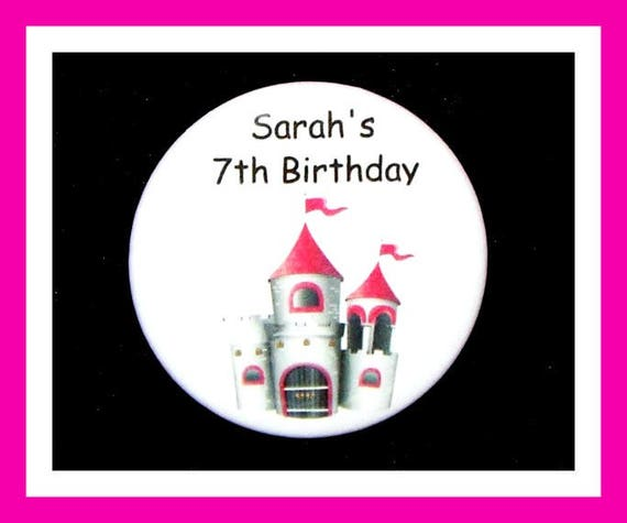 Birthday Party Favors, Personalized Button,Princess Pin Favor,School Favors,Kids Party Favor,Boy Birthday,Girl Birthday,Pins, Set of 10