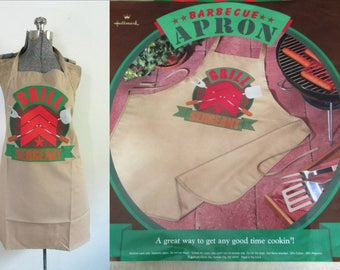 Vintage Barbecue Apron Hallmark Grill Sergeant New in Original Package // Mother's Day Father's Day Gift for Mom Dad