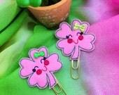 Sweet Clover Feltie Clip, Planner Clips, Bible Bookmark, Planner Accessories, Textbook Bookmark, Office Supplies, Bookmark