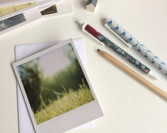 Breathe in the scent of summer - Polaroid notecard