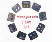 Stud Earring set, 3 Pairs of Fused Glass Studs, Special offer 3 pairs earring studs, Choose your colors and size,