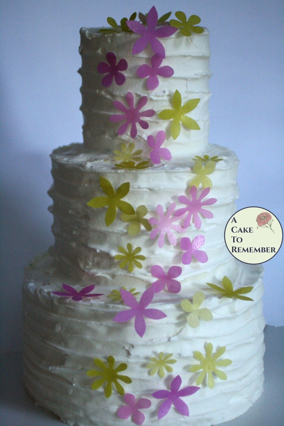 50 wafer paper flowers edible flowers for cupcakes and cake il570xn mightylinksfo