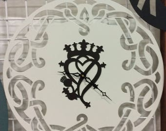 Celtic Clock with Celtic symbol and knot work