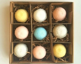 Bath bombs GIFT SET, gift box, bath and body, natural skin care, birthday gift mom, bridesmaid,girlfriend, spa gift, birthday for her