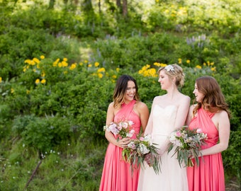 RESERVED for Rose Carnase - Coral Convertible Dresses